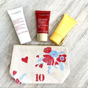 Clarins skincare - makeup bag- travel size set